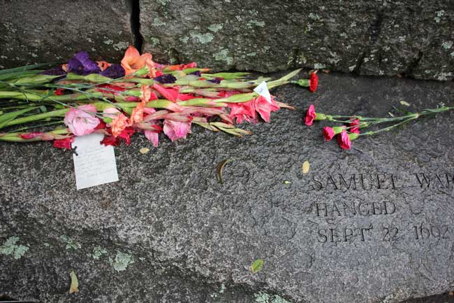 A memorial to those who were killed during the Salem Witch Trials. Photo by Destination Salem