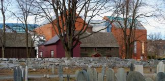 The Old Burying Point is a popular spot to visit on Halloween in Salem, MA
