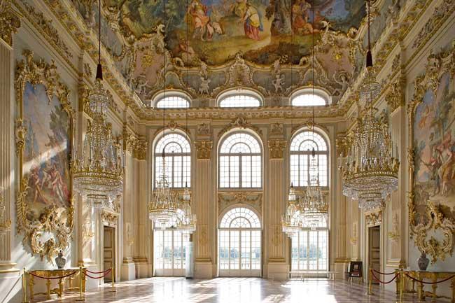 The ornate interiort at Schloss Nymphenburg in Muniich. Photo by Vittorio Sciosia