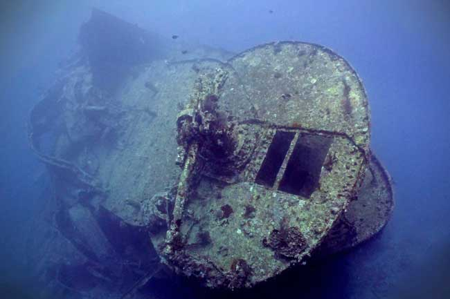 Wreck diving at Thistlegorm in the Red Sea in Egypt.