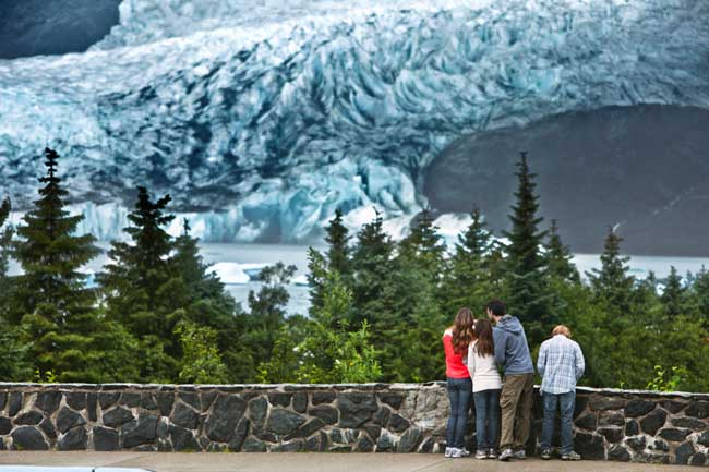 Viewing Mendenhall Glacier in Alaska. Photo by Celebrity Cruises