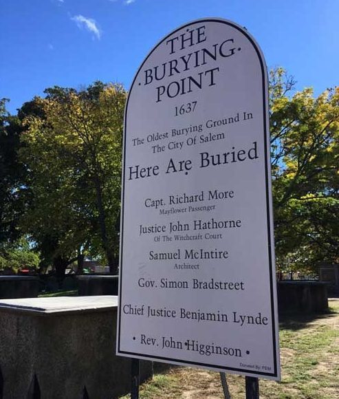 The Old Burying Point is the oldest cemetery in Salem, MA. Photo by Taylor Prescott