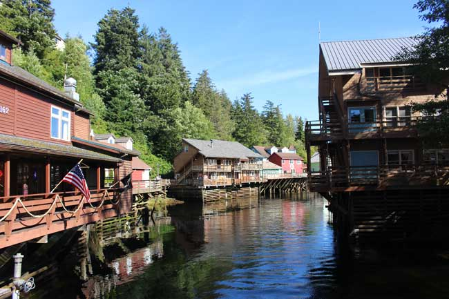 Creek Street in Ketchikan, Alaska. Photo by Janna Graber