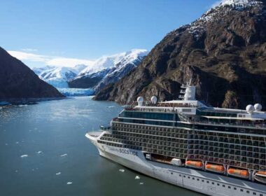 Sailing into Tracy Arm Fjord in Alaska. Photo by Celebrity Cruises