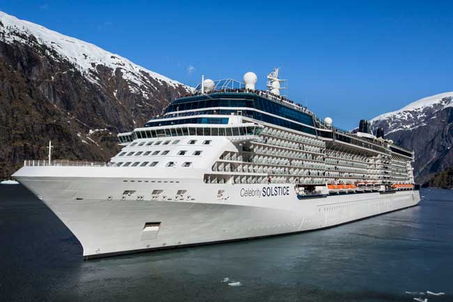 A cruise ship is the best way to see Tracy Arm Fjord in Alaska. Photo by Celebrity Cruises