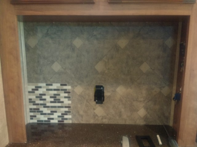 New Backsplash RV remodel