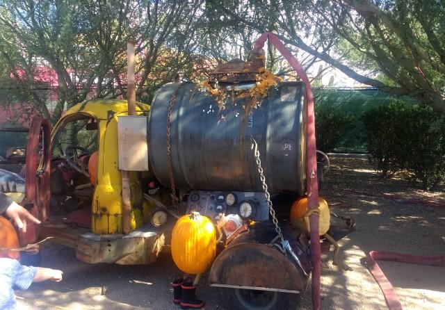 Enchanted Pumpkin Garden Septic Truck
