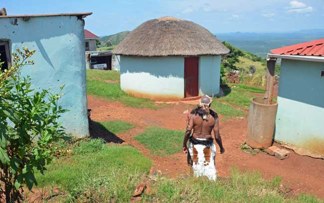Travel in KwaZulu-Natal. Typical homes in Zululand. Photo by Roberta Sandoval