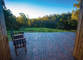 Bruny Island cabin. Photo by Tourism Australia & Graham Freeman