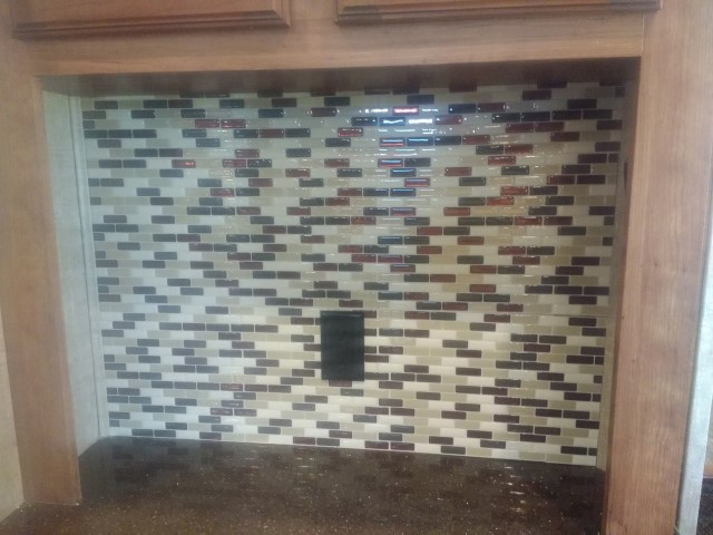 new backsplash in RV remodel
