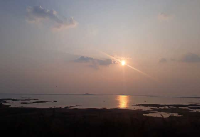 Sunset at Karimnagar Dam