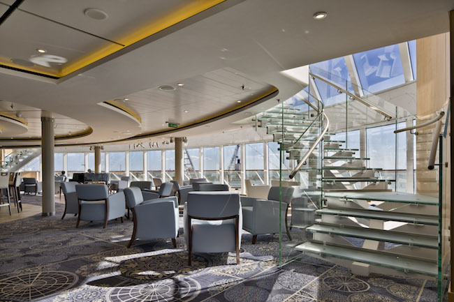 Explorers' Lounge in Viking Star. Photo courtesy of Viking Cruises