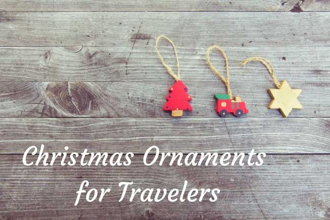 Christmas ornaments for travelers