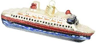 Cruise Ship Glass Blown Ornament Old World Christmas Amazon