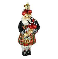 Highland Christmas Santa Glass Blown Ornament Amazon