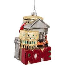 Kurt Adler 5-Inch Glass Rome Cityscape Ornament Amazon