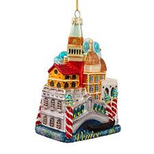 Kurt Adler 5-Inch Venice Cityscape Glass Ornament Amazon