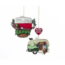 Kurt Adler Camper Ornaments, set of 2 Amazon