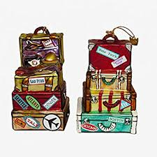 Kurt Adler Glass Stack Suitcase Ornament Amazon