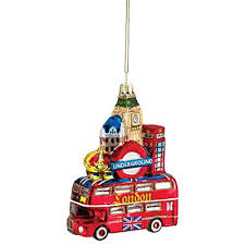 Kurt Adler London City Glass Ornament Amzaon