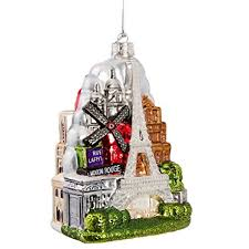 Kurt Adler Paris City Glass Ornament Amazon