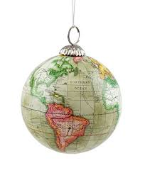 Old World Map Globe Hanging Christmas Tree Ornament by Creative Co-op
