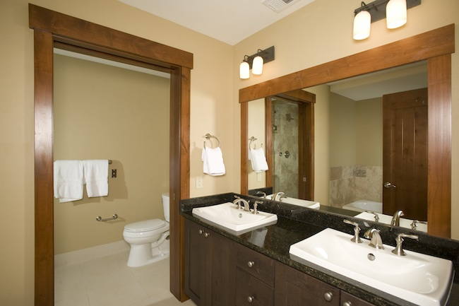 Master bathroom of two-bedroom unit. Photo courtesy of Breckenridge Ski Resort