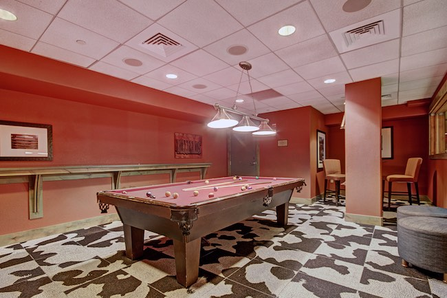 Game room at One Ski Hill Place. Photo courtesy of Breckenridge Ski Resort