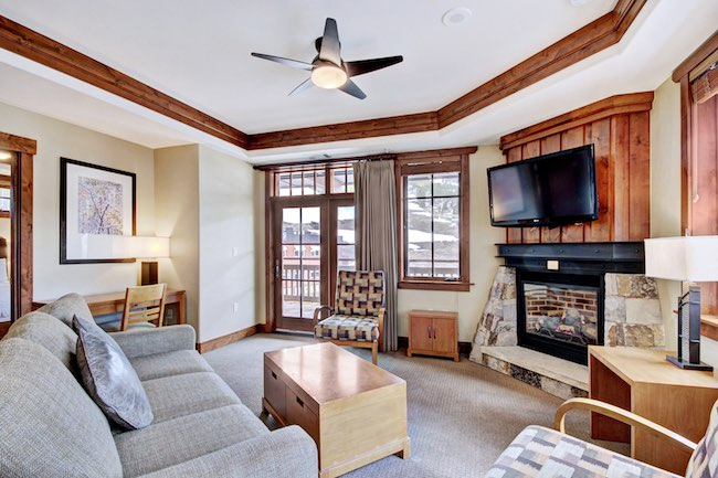 Living room at One Ski Hill Place. Photo courtesy of Breckenridge Ski Resort