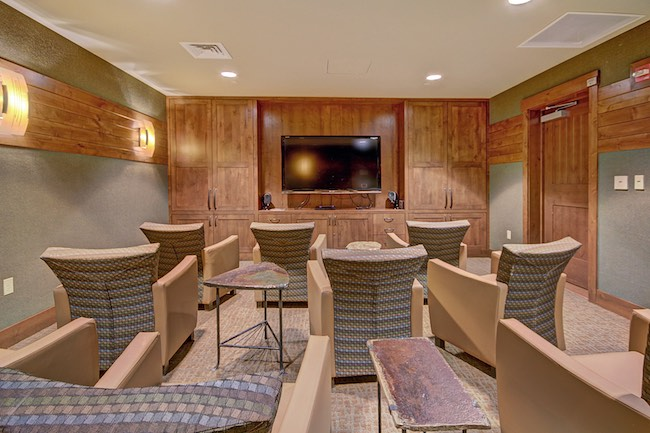One of two media rooms that can be reserved. Photo courtesy of Breckenridge Ski Resort