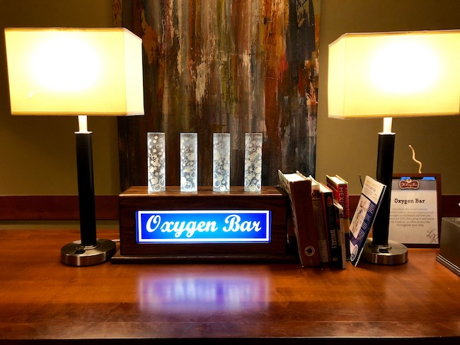 Oxygen bar at One Ski Hill Place. Photo by Claudia Carbone
