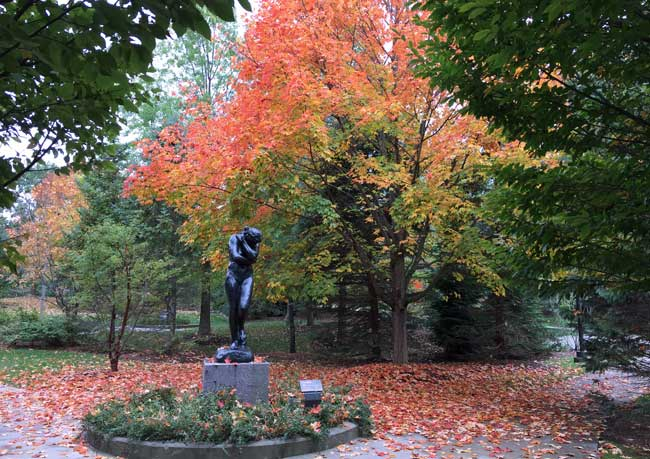 Rodin sculpture of Eve at the Frederik Meijer Gardens in Grand Rapids, MI. Photo by RIch Grant