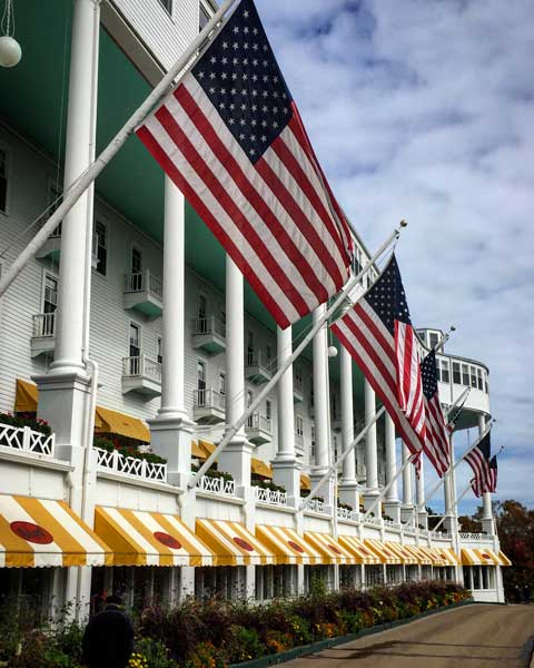 The Grand Hotel on Mackinac Island, Michigan. Photo by Rich Grant