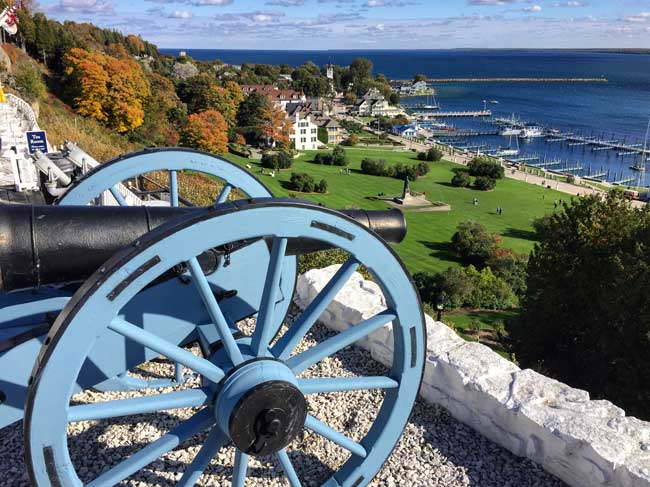 View from Fort Mackinac of the harbor. Photo by Rich Grant