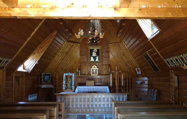 Inside a Zakopane chapel. Photo by Eric D. Goodman