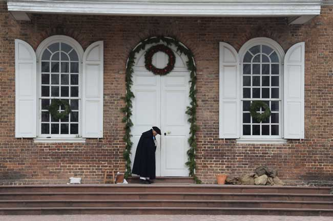 Colonial Williamsburg during the holiday. Flickr/Tony Alter