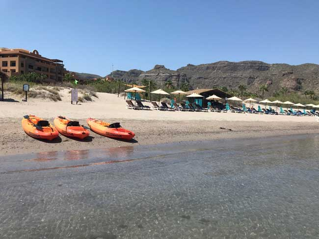 The beach at Villa del Palmar at The Islands of Loreto. Photo by Jill Weinlein