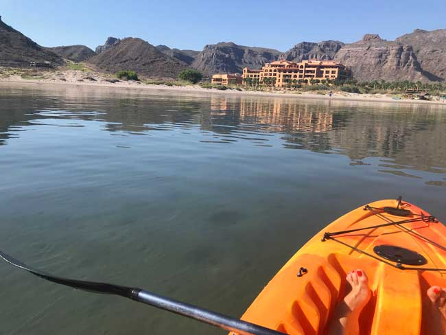 Kayaking on the Sea of Cortez. Photo by Jill Weinlein