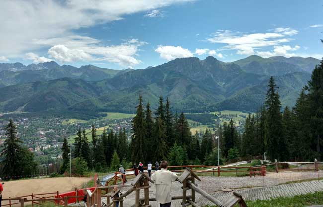 Looking at the Tatra Mountains from a Zakopane lookout. Photo by Eric D. Goodman