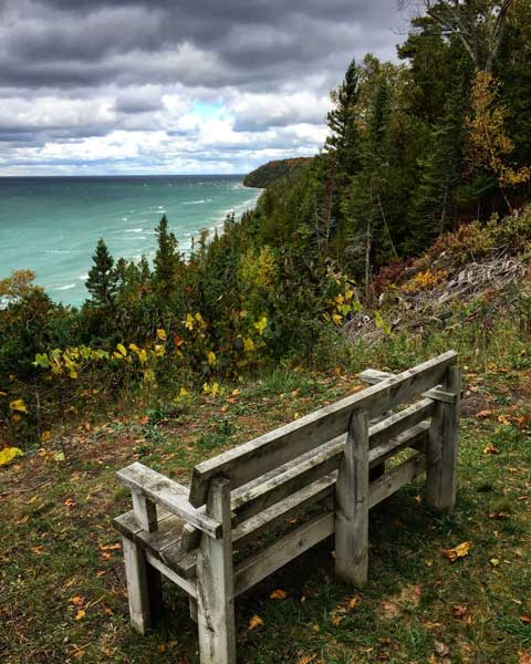 A view of Lake Michigan near Harbor City. Photo by Rich Grant