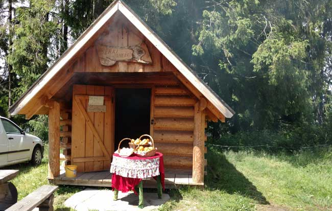 A traditional Zakopane cheese smokehouse. Photo by Eric Goodman