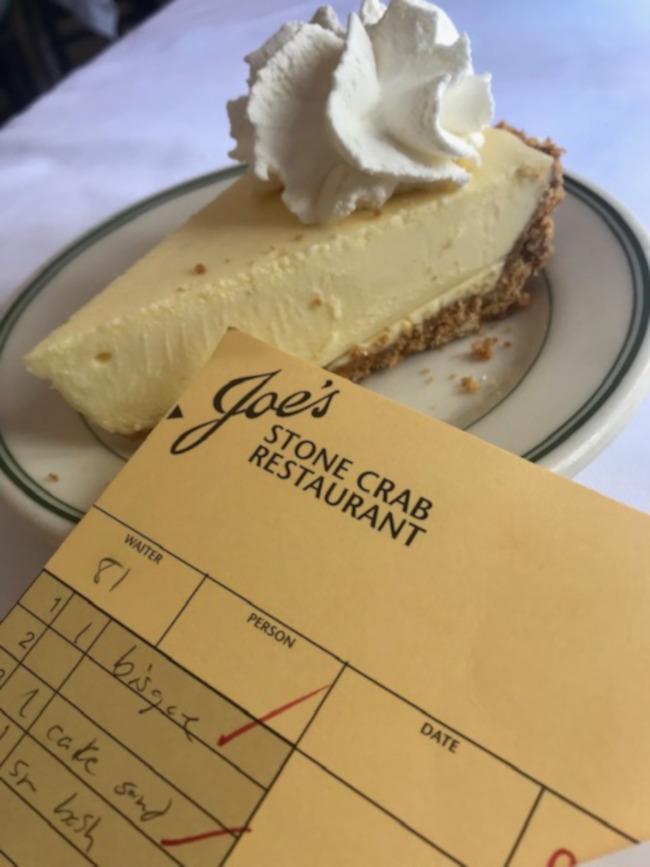 Joe's key lime pie recipe is a closely guarded secret. Photo by Harrison Shiels