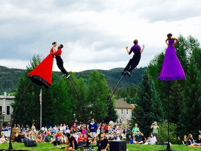 Australia's Strange Fruits perform at Breckenridge International Festival of the Arts in 2015. Photo by Claudia Carbone