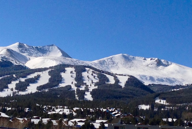 The slopes of Breckenridge. Photo by Claudia Carbone in 2013