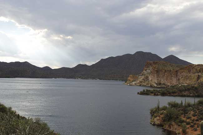 Saguaro Lake is an hour from Phoenix. Photo by Megan Webber