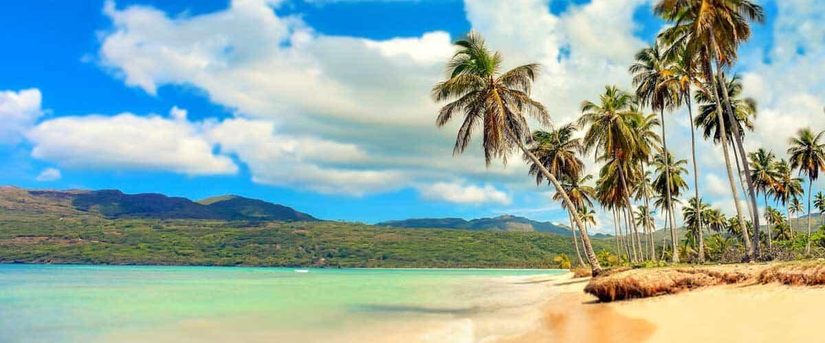 The colorful Dominican Republic beach