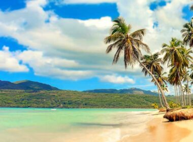 The colorful Dominican Republic beach