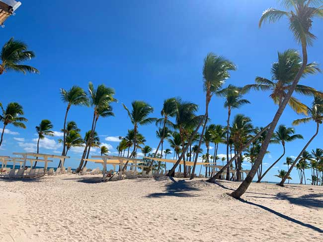White sand beach, blue skies and bright sunshine in the Dominican Republic. Photo by Janna Graber