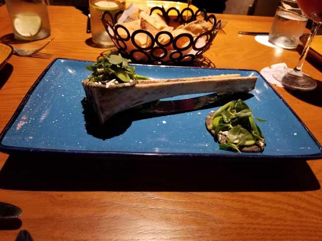 Bone marrow dish at La Laguna, a restaurant at Fairmont Mayakoba. Photo by Carrie Dow