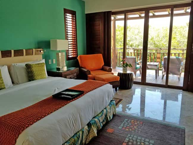 My casita at the Fairmont Mayakoba, Riviera Maya. Photo by Carrie Dow